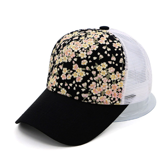 81e1e1a20f02be GZHilovingL 2018 Summer Womens Floral Printing Baseball Cap Casual Fashion  Women Black Hip Hop baseball Snapback Cap Hats