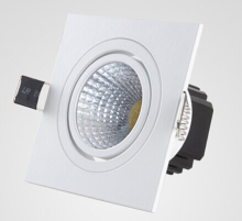 Wholesale High quality Dimmable 10W Square COB led Ceiling lamp down light  with driver AC85-265V 30pcs/lot