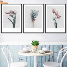 Tulip Lily Calla Rose Flower Wall Art Canvas Painting Nordic Posters And Prints Wall Pictures For Living Room kitchen Home Decor w005 calla lily unframed art wall canvas prints for home decorations