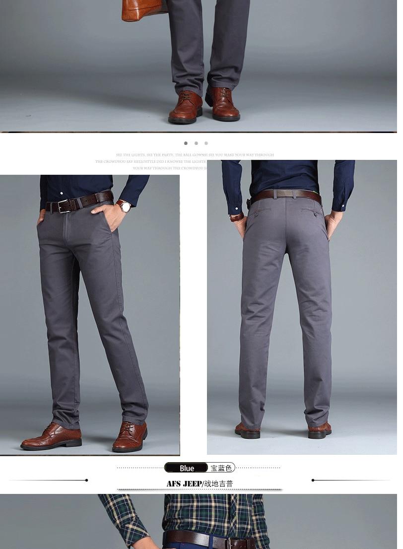HTB1 bYfRhTpK1RjSZFMq6zG VXaz Mens Chinos High Quality Cotton Casual Pants Stretch Male Trousers Man Long Straight Plus Size chinos pants