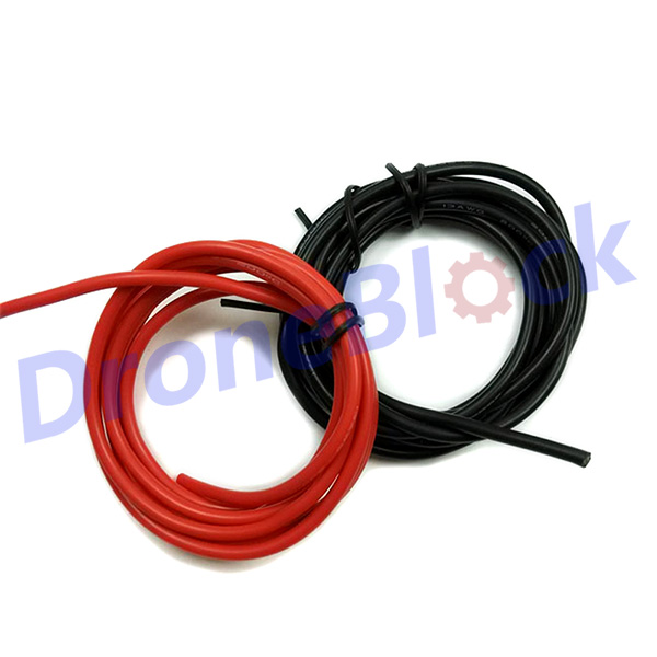1meter Black + 1meter Red Silicon Wire Heatproof Soft <font><b>Silicone</b></font> Silica Gel Wire <font><b>Cable</b></font> 12AWG <font><b>13AWG</b></font> 14AWG 16AWG 18AWG RC battery image
