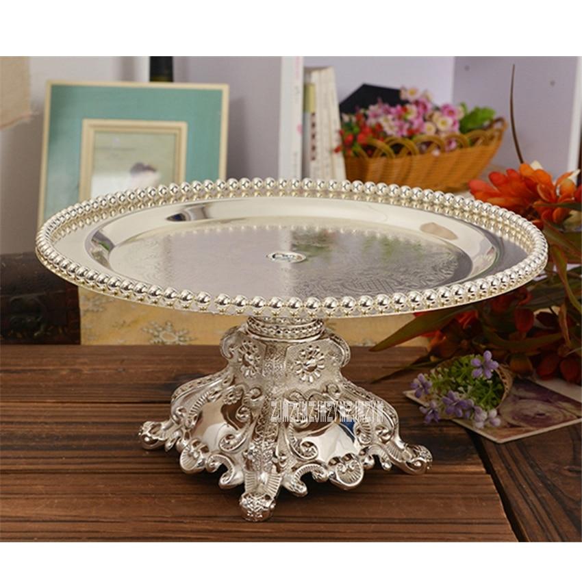 European Style Modern Silver Plated Cake Tray Fruit Dish Wedding
