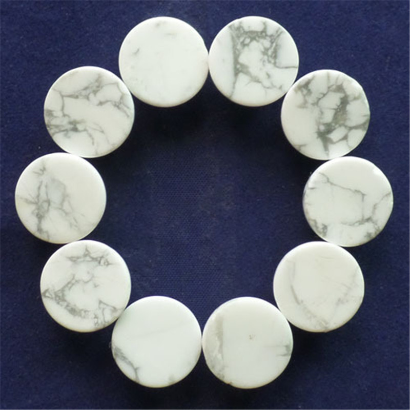 (10 pieces/lot) Wholesale Natural White Howlite Round CAB CABOCHON 14x5mm Free Shipping Fashion Jewelry C0001606