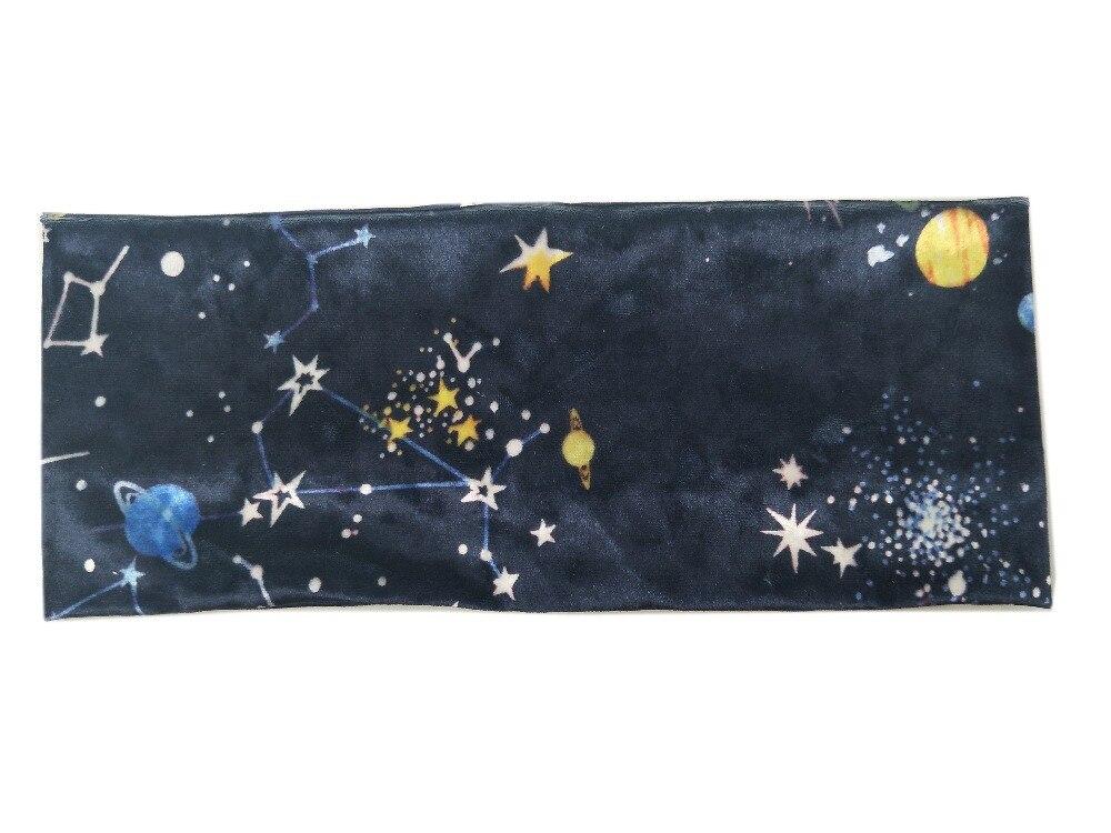 P171229 new arrive warm velvet hair accessories,Universe Constellation printed stars headband for women beauty hairband