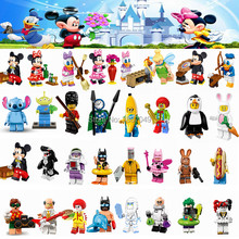 Cartoon Minnie Donald Duck Daisy Tinker Bell Joker Single Sale Building Blocks Toys for Children Compatible for Legoing Figures(China)