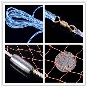 Image 3 - 2,4 M 7,2 M Fischernetz USA Stil Cast Netzwerk Mit platinen und ohne platinen Sport Hand Werfen Fischer netto Kleine Netz Cast Net