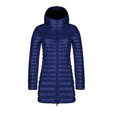 Chaqueta con capucha de invierno para mujer, chaqueta cálida elegante, Ultra ligera, capucha de pato, Parka femenina, abrigo XXXL, 90%