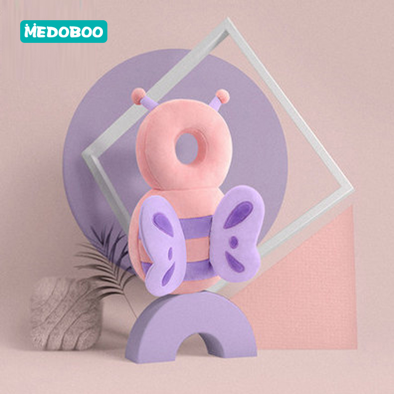 Medoboo Baby Head Protection Pillow Backpack Pad Anti-fall Kids Headrest Pillow Drop Resistance Cushion Infant Neck Protector *