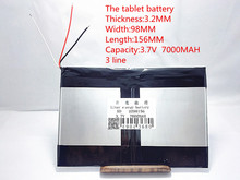 Free shipping large capacity 3.7 V tablet battery 7000 mah each brand tablet universal rechargeable lithium batteries 3298156