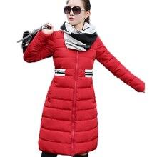 2016 New Autumn Winter Women Parkas Women's Wadded Jacket Outerwear Fashion Cotton-padded Jacket Medium-long Coat  SW115