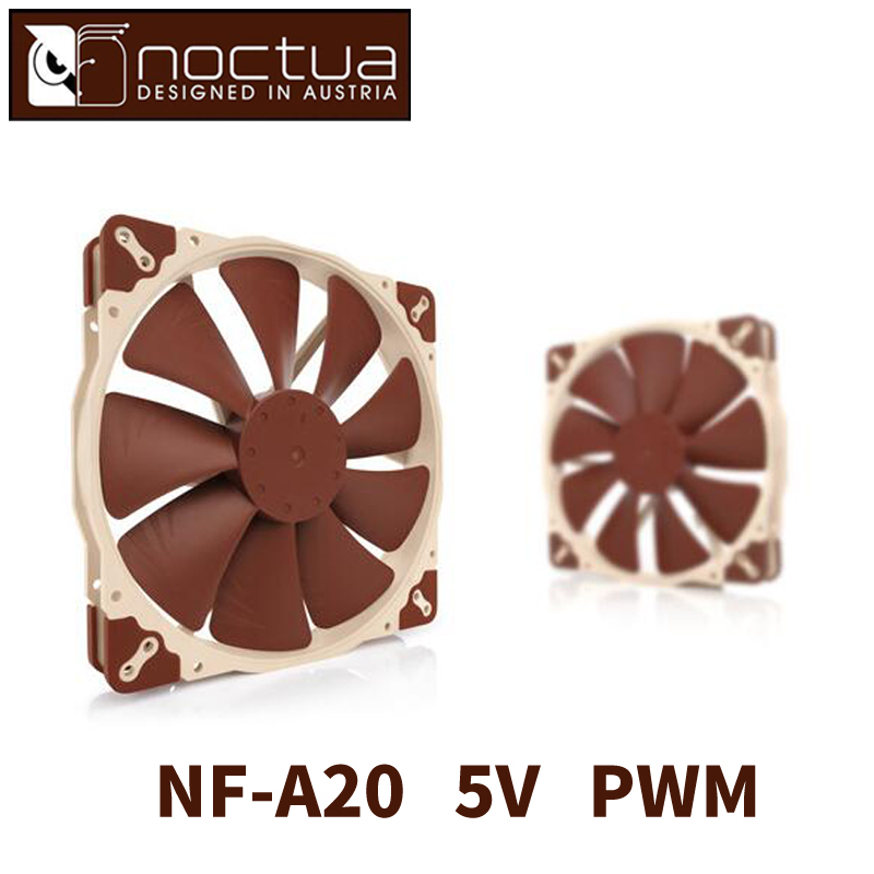 Noctua NF- A20 5V PWM CPU or radiator cooling fans Computer Case CPU heat sink Cooler low noise Fan 80 80 25 mm personal computer case cooling fan dc 12v 2200rpm 45cm fan cable pc case cooler fans computer fans
