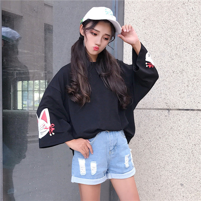 Korean Style Women Fashion Summer Ulzzang Vintage Flare