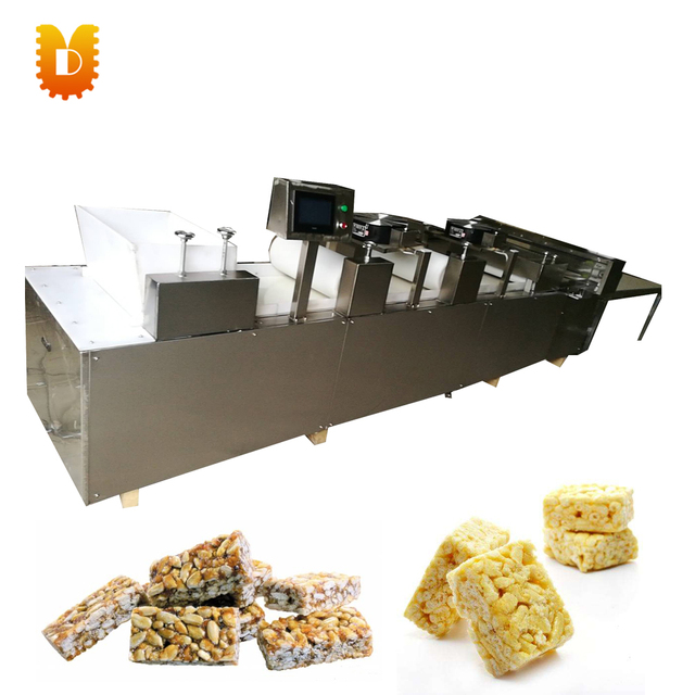 Peanut sesame candy flatting and cutting machine/cereal puffing bar making machine/energy cereal bars maker