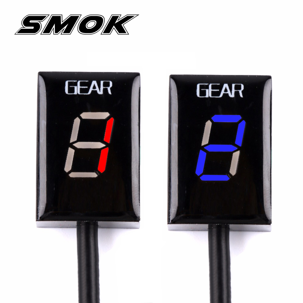 SMOK For Honda CB500X VFR 800 CB1000R CB400SF CBR650F CB650F Motorcycle 1-6 Level Ecu Plug Mount Speed Gear Display Indicator