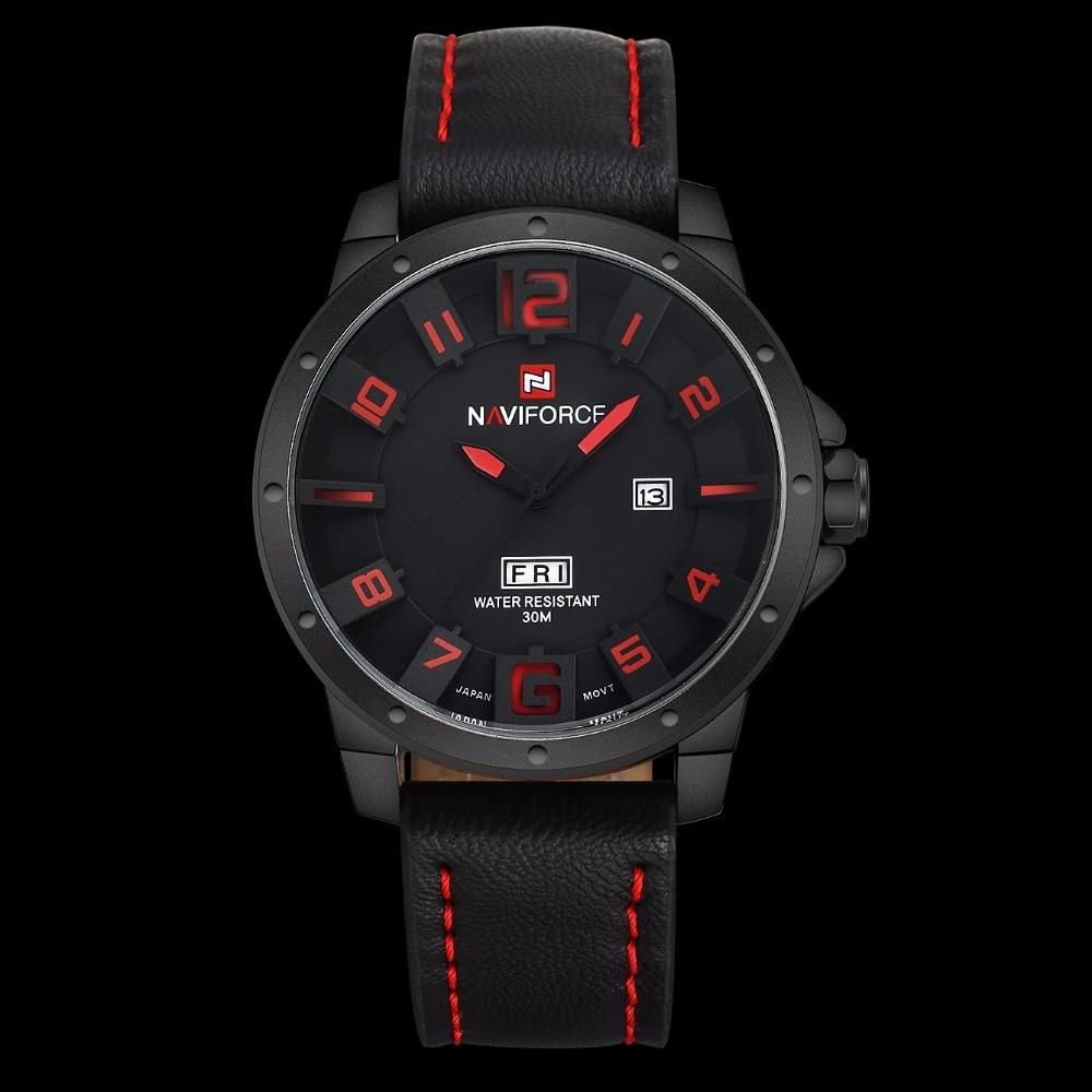 Luxury Brand NAVIFORCE Men Watch Quartz Date Military Sports Watches Men's Clock Casual Leather Wrist Watch relogio masculino 6