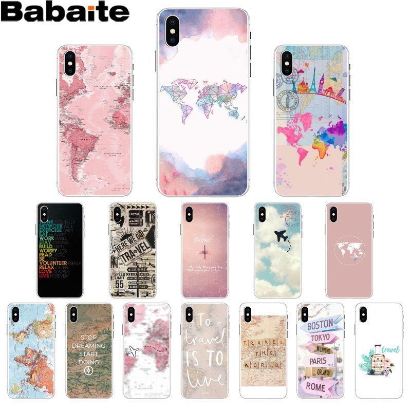 Babaite World Map Travel Plans DIY Painted Beautiful Phone