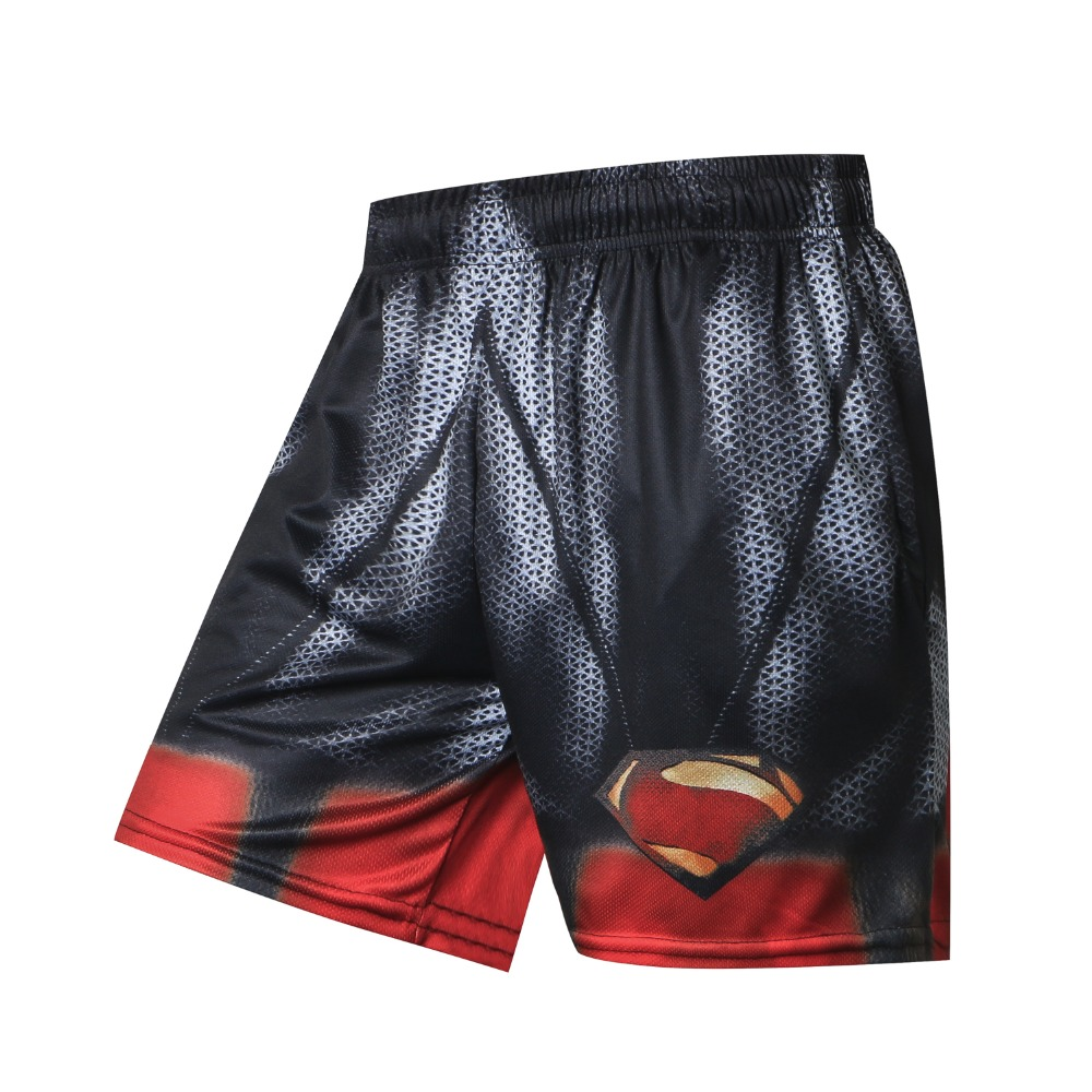 2018 Summer Hot Men Beach   Shorts   Quick Dry 3D Printing Superman Batman Spiderman Hulk   Board     Shorts   Men Fashion Casual Trousers