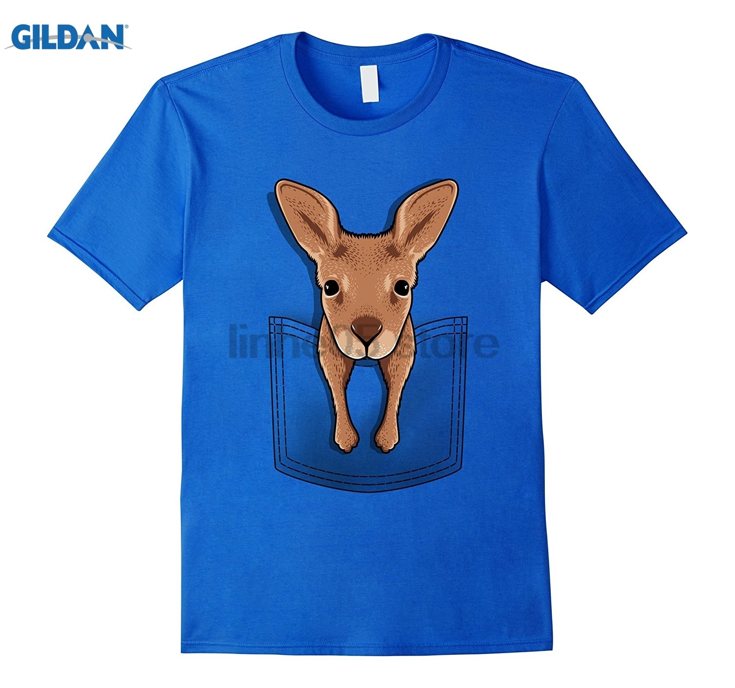 GILDAN Baby kangaroo in your pocket animal T-shirt sunglasses women T-shirt
