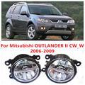 Для Mitsubishi OUTLANDER II CW_W 2006-2009 Противотуманные фары LED Автомобилей Стайлинг 10 Вт Желтый Белый 2016 новые фары