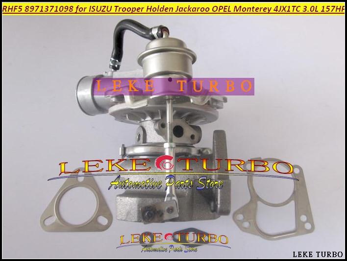 Free Ship RHF5 8971371098 8973125140 8972503640 Turbo For ISUZU Trooper 00- Jackaroo 99- For OPEL Monterey 1998- 3.0L 4JX1T 3.0L free ship turbo cartridge chra for jackaroo for isuzu d max trooper monterey 4jx1t 3 0l rhf5 8973125140 8971371093 turbocharger