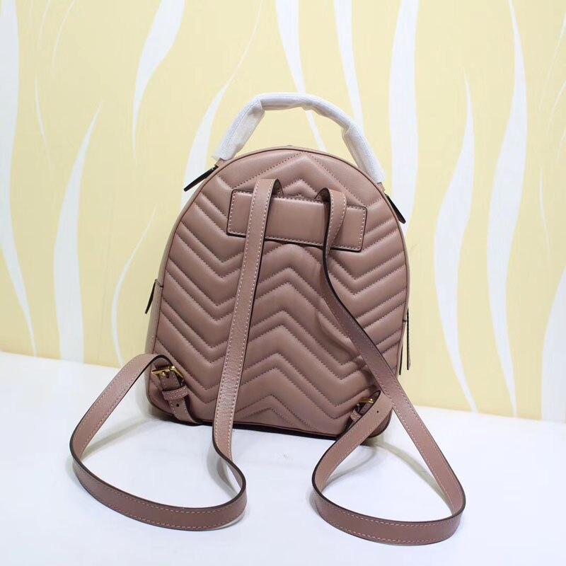 Célèbre À La Mode sac à dos de marque Top Qualité En Cuir Véritable Femmes Backapck 2018 Nouveau Style À La Mode De Luxe Mini sacs pour femmes