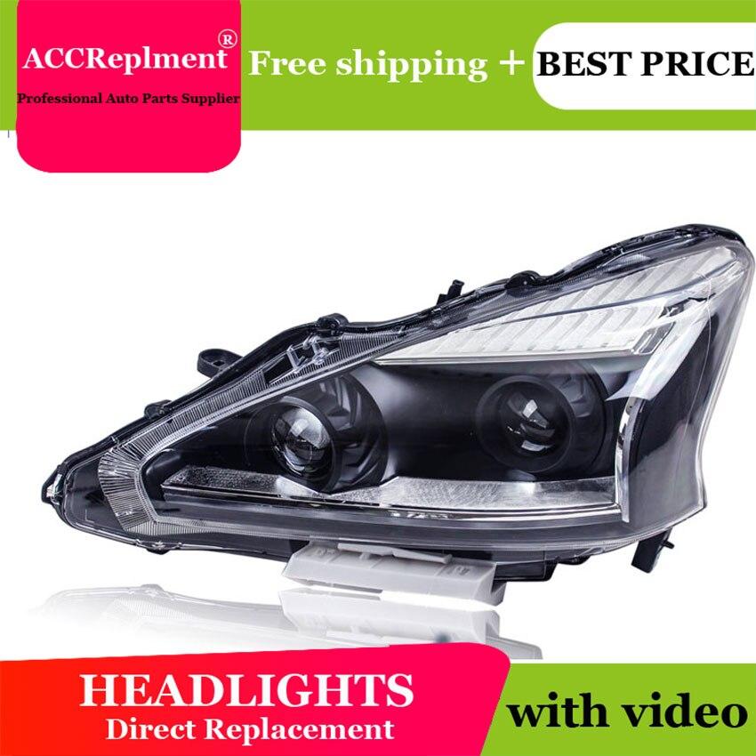 Style de voiture pour Nissan Teana phares U angel eyes 2013-2015 pour Nissan Teana lumière LED bar Q5 bi xénon lentille LED ampoule lumière du jour