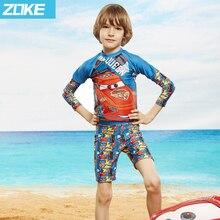 ФОТО zoke 2017 new style lovely and beautiful oys kid swimsuit children swimwear