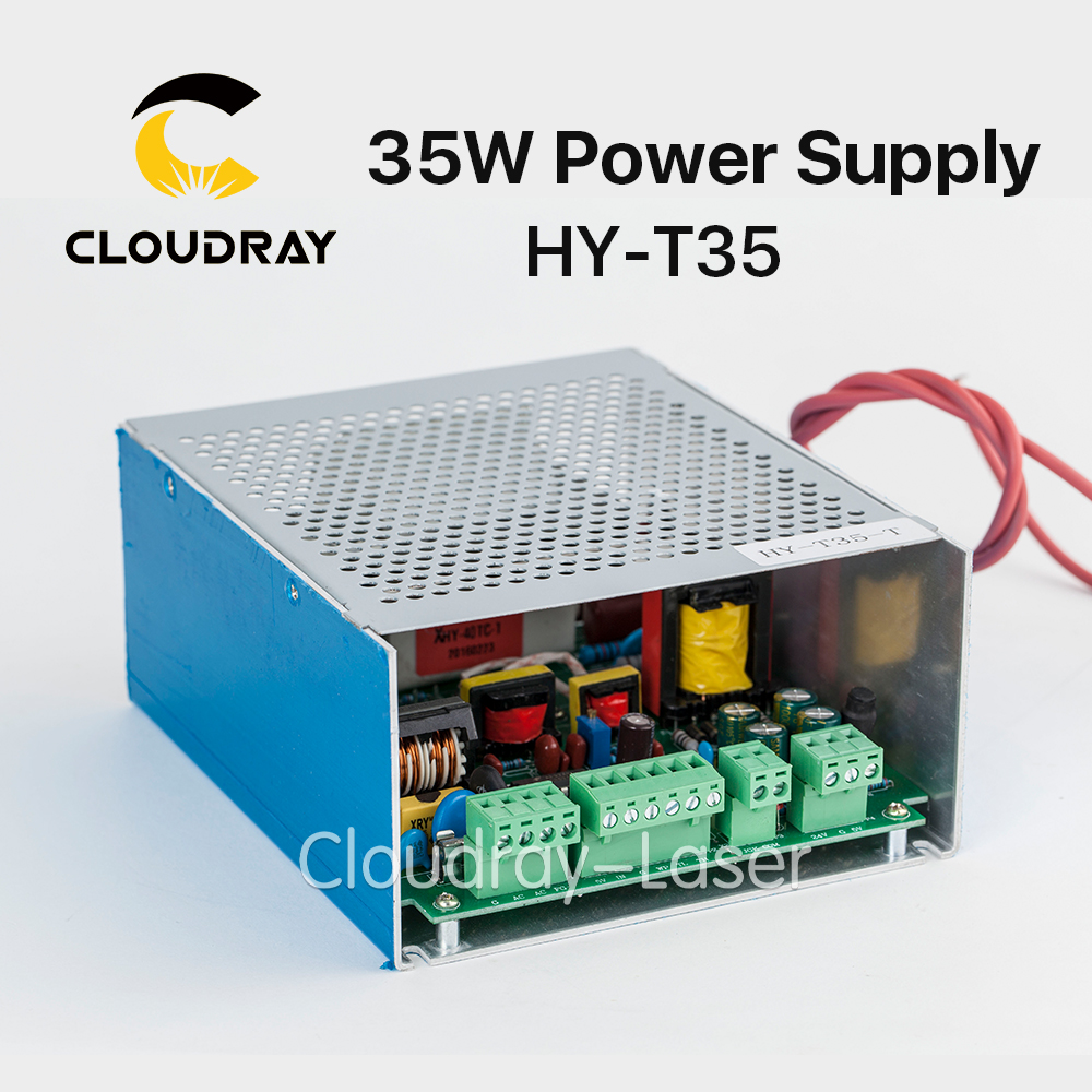 Cloudray 30-40W CO2 Laser Power Supply for CO2 Laser Engraving Cutting Machine HY-T35 high voltage flyback transformer hy a 2 use for co2 laser power supply