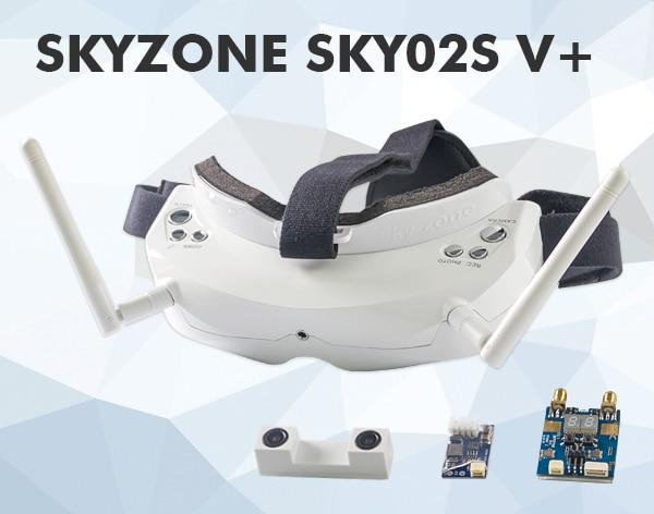 Skyzone SKY02S V + 5.8G 40CH 3D FPV 고글 w / VTX, 3D 카메라, 헤드 트래킹, HDMI, DVR, 채널 자동 검색 기능 5.8Ghz