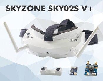 Skyzone SKY02S V + 5,8G 40CH 3D FPV gafas con VTX, cámara 3D, seguimiento de cabeza, HDMI, DVR, función de búsqueda automática de canal 5,8 Ghz