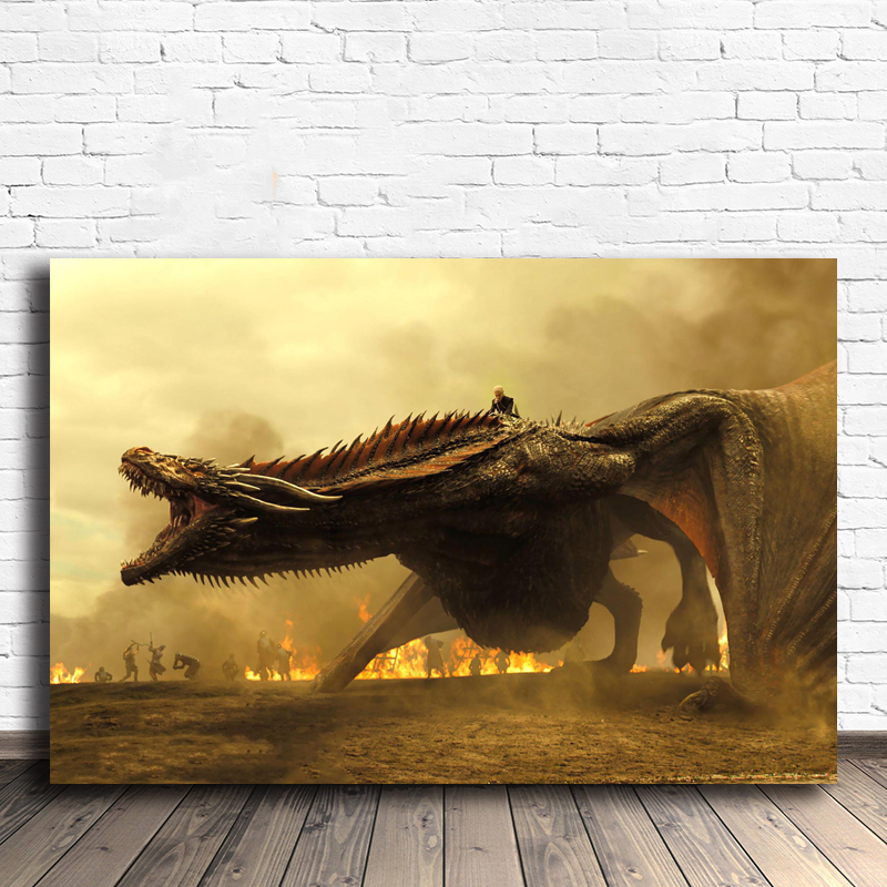 Mother Of Dragons Daenerys Targaryen Game Of Thrones Poster Painting On Canvas Bedroom Wall Art Decoration Pictures Home Decor