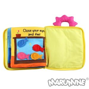 Image 5 - Marumine 3D bébé tissu livre Animal développement doux tissu silencieux livres pour 0 12 mois Kid Intelligence jouets livre de lecture