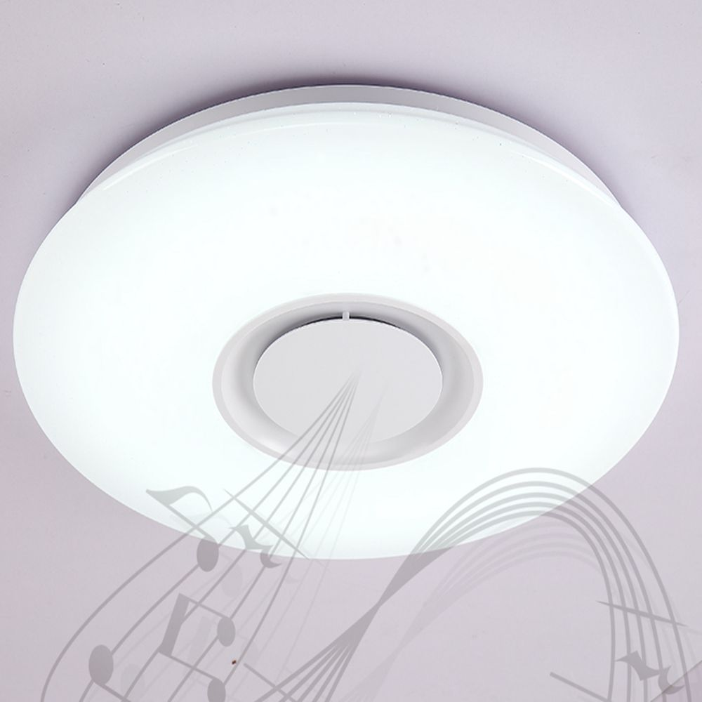Ceiling Light Near Me Us 37 19 41 Off Lightme X9903y 24w Ly Music Light Converter Bluetooth Ceiling Light With Music Player Color Adjustment Smart Voice 4 In Ceiling