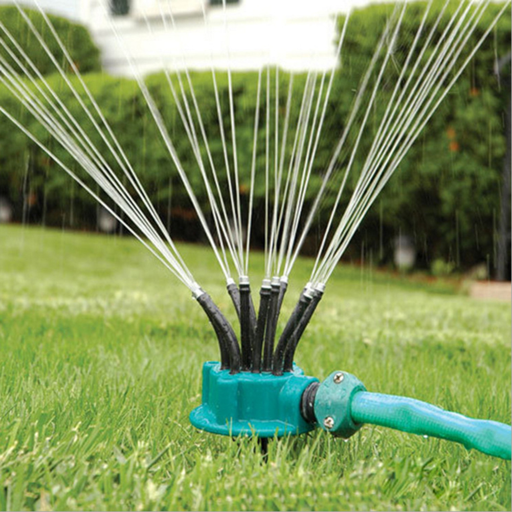 Garden Irrigation Cooling Tool 360 Degree Automatic Plastic Sprinkler Spray Watering Kit Home Garden Supplies