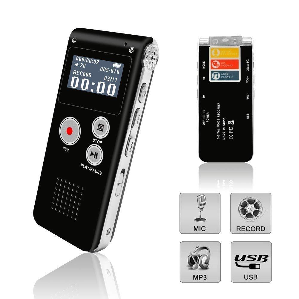 Mini enregistreur de musique vocale numérique 8 GB stylo Rechargeable Dictaphone enregistreurs Audio Microphone MP3 USB réunions entretien discours