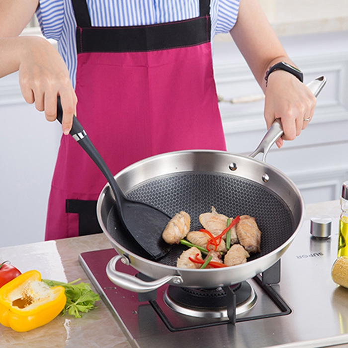 Casseroles polyvalentes durables poêle à frire de Protection de l'environnement économiseuse d'énergie d'acier inoxydable pour l'usage à la maison de cuisine