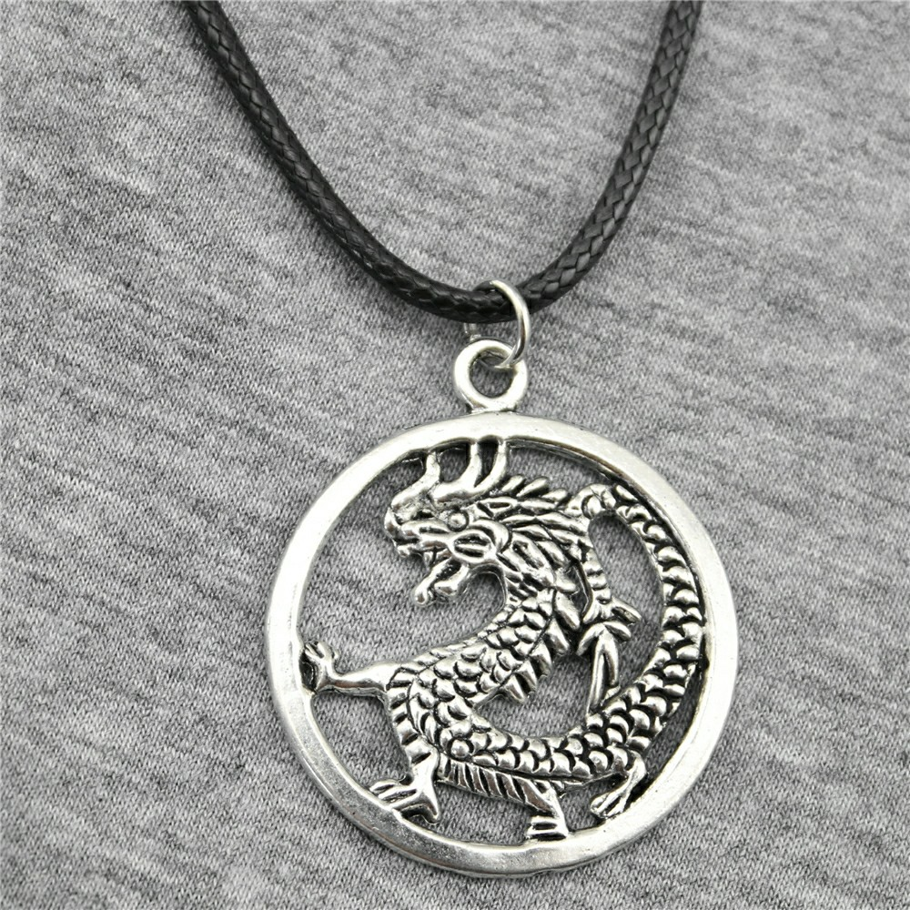 Special Section Wholesale The Elder Scrolls V Skyrim Necklaces Pendants High Quality Silver Plated Hollow Dragon Men Women Chain Necklace Gift Jewelry & Accessories Chain Necklaces