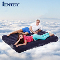 INTEX inflatable bed 2 persons thickening honeycomb columns air bed household outdoor bed with Hand pump and ground pad