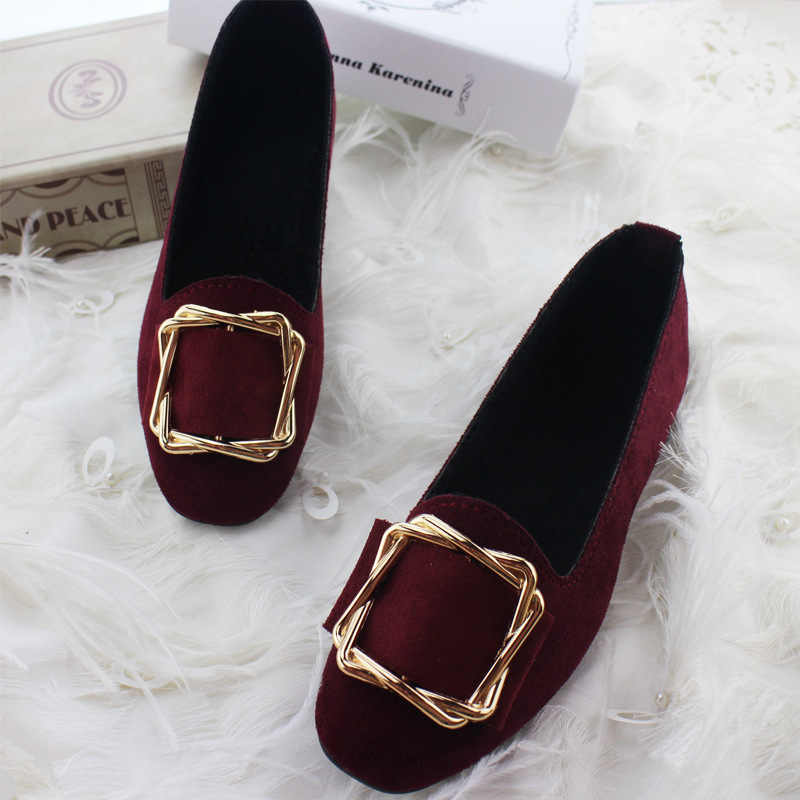 8775ddedd1a LHCGY Autumn Winter Women Boat Shoes Slip on Flat Shoes Woman Loafers Candy  Color Faux Suede