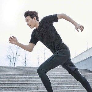 Image 5 - Xiaomi 90 uomo che assorbe lumidità T shirt monopezzo tessitura ioni dargento antibatterico manica corta asciugatura rapida fitness da corsa