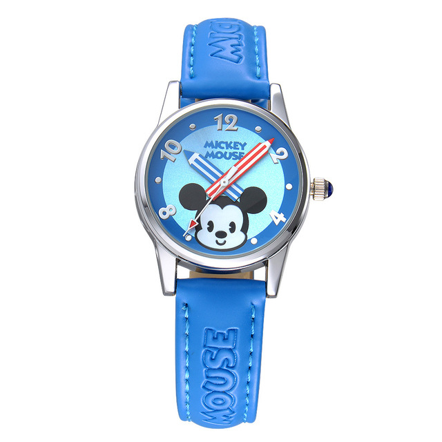 Disney brand children's watches Mickey Boys girls quartz waterproof Cartoon kids watches leather kids Wristwatch clocks relogio