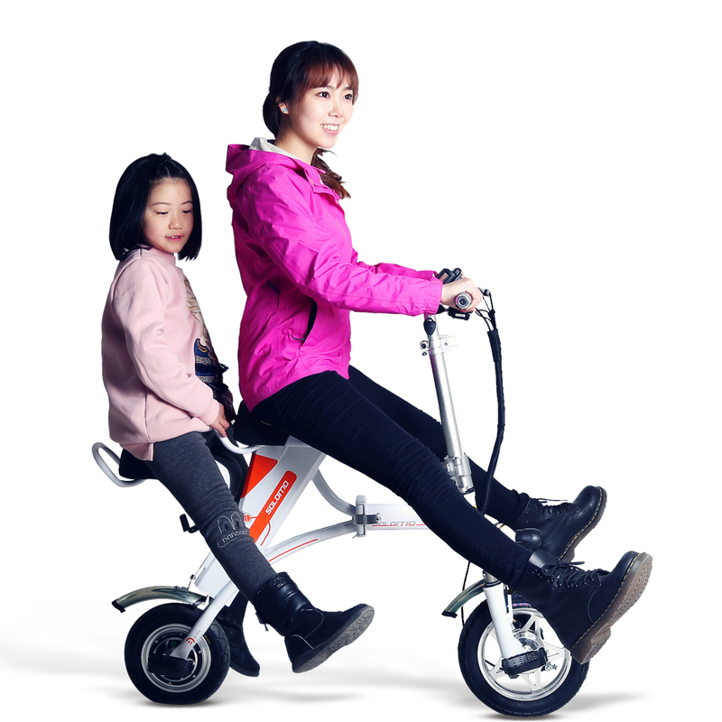 Electric Bicycle Reviews >> 2 people folding electric bike lithium battery electric bicycle parent child electric bike ...