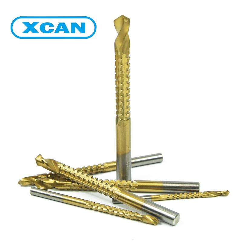 6Pcs/set high speed steel twist drill bit Titanium Coated HSS Drill & Saw Carpenter Woodworking drilling high speed steel drill bit set golden 6 pcs