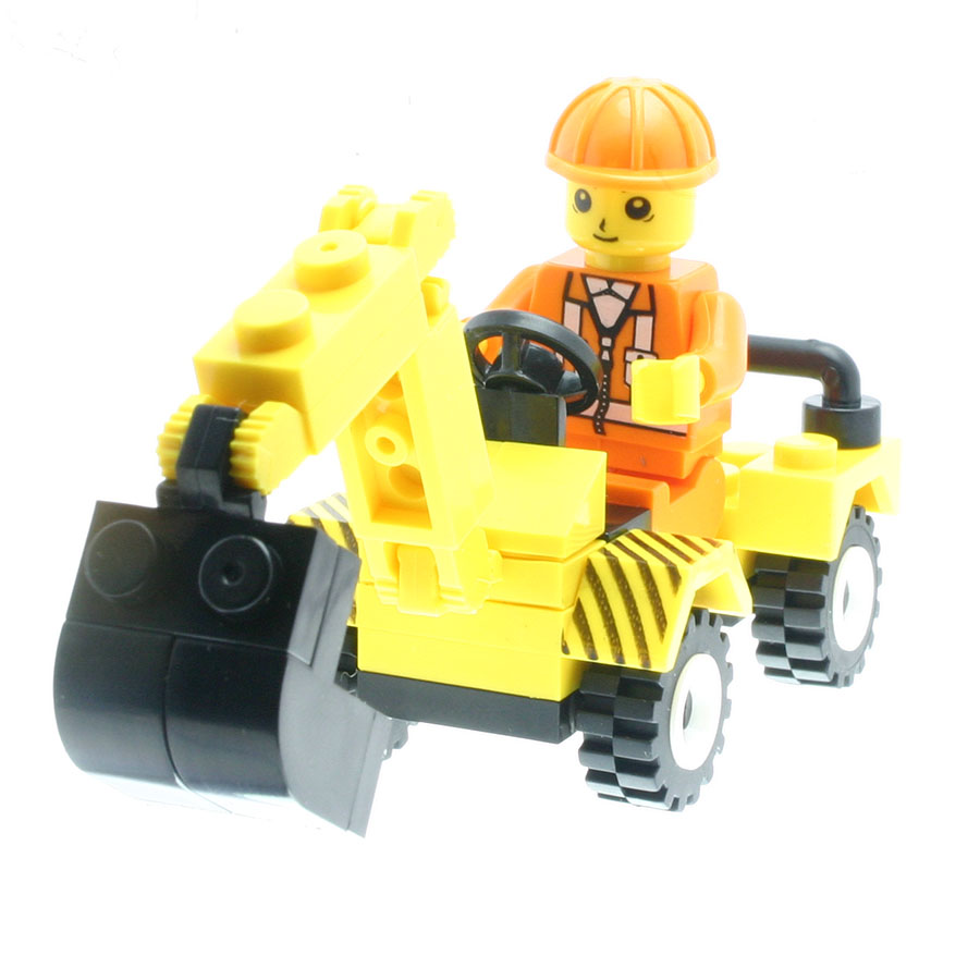 37Pcs/set Excavator Engineering Vehicle Model Figures Fancy Toys for Kids Model Building Sets Compatible with All Brands DT0036