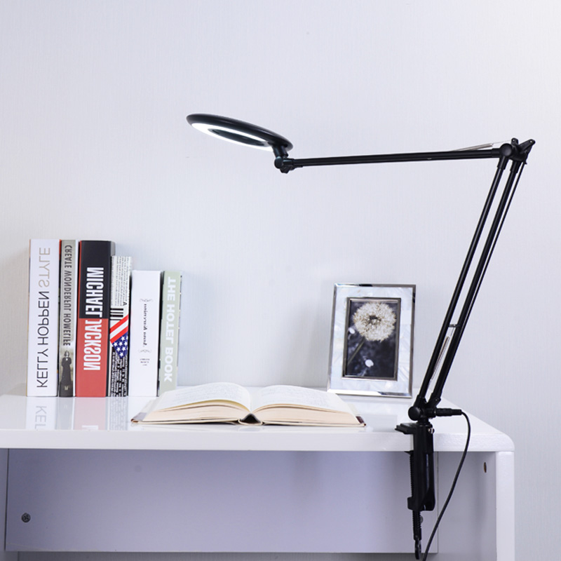LED 8X Magnifier Lamp Adjustable Swivel Arm Clamp Clip Table desk lamp Cosmetology Beauty Skincare Manicure