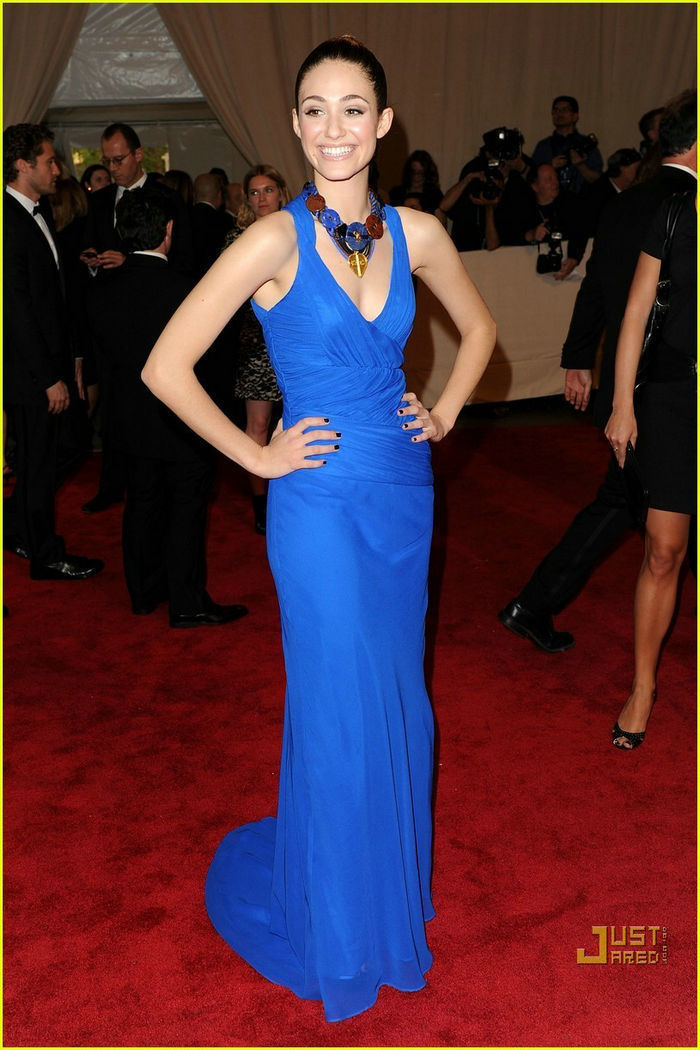 Celebrity blue dress