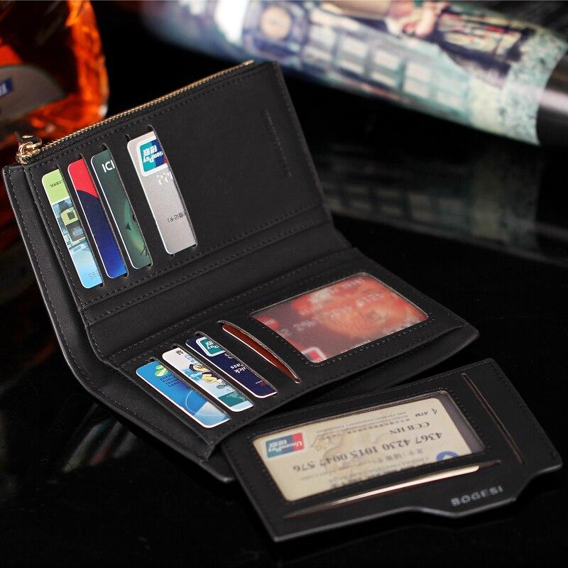 New Men/'s Leather ID Card Holder Zip Wallet Purse Clutch Checkbook BillfoldH JX