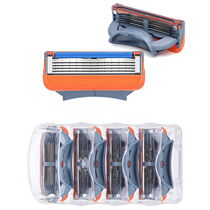 4pcs/lot High Quality Razor Blade For Men Shaving Blades Safety Blades Cassette Shaver Suit For Gillettee Fusione 5 Handle