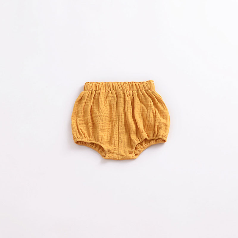 0 5Y Newborn Baby Bloomers Shorts PP Pants Cotton Linen Triangle Solid Girls Shorts Summer Toddler in Shorts from Mother Kids