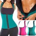 Termo neopreno caliente sudor chaleco mujeres shapers body shaper adelgazamiento entrenador cintura cincher